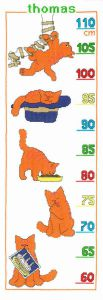 Embroidery kit Dikkie Dik growing chart red tomcat .