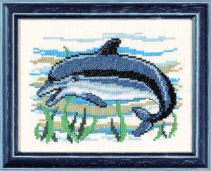 Embroidery kit dolphin