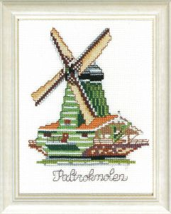 Embroidery kit Dutch windmill