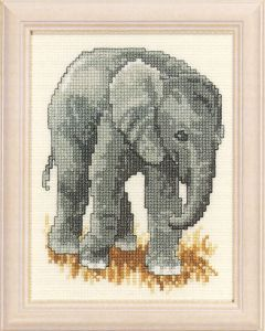 Embroidery kit elephant