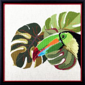 Embroidery kit exotic toucan