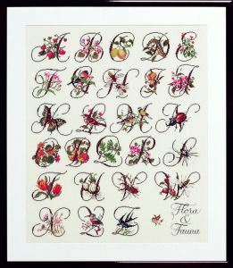 Embroidery kit Flora and Fauna ABC