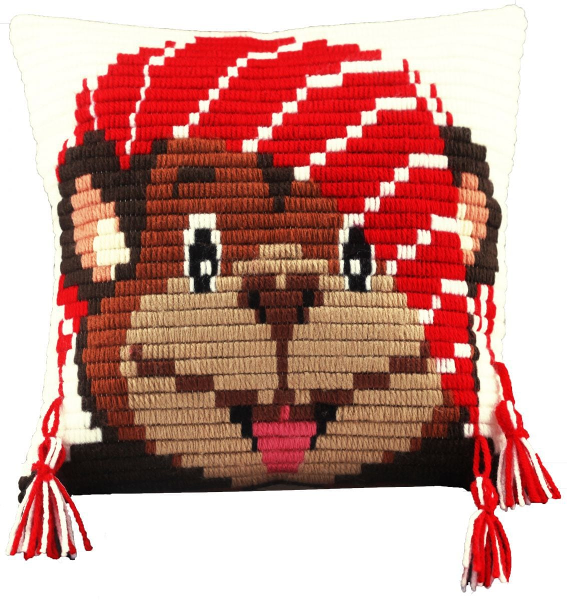 embroidery kit for children short flat stitch monkey