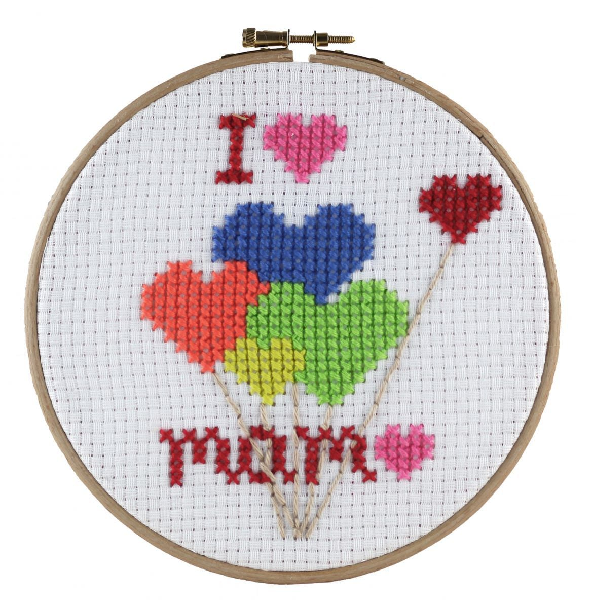 embroidery kit for kids i love mama