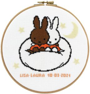 Embroidery kit friends Miffy and Nina birthday sampler, Dick Bruna