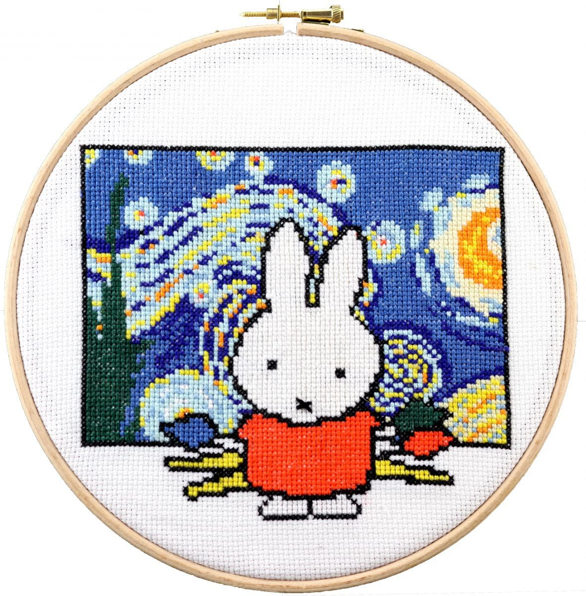 embroidery kit holland miffy painting like van gogh
