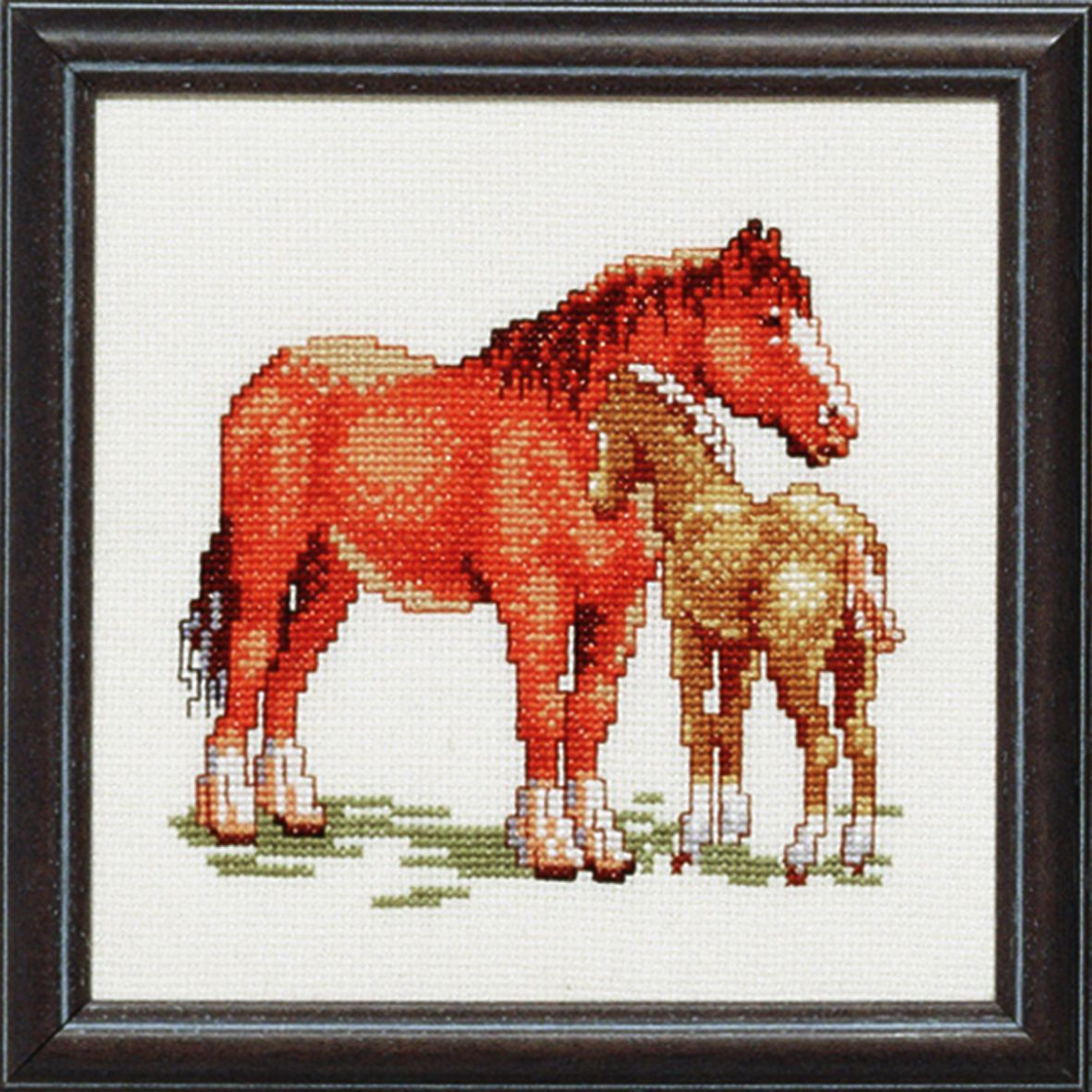 embroidery kit horse and foal