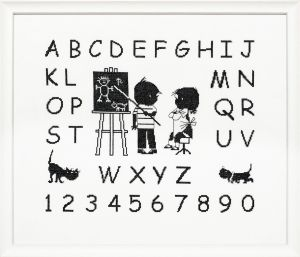 Embroidery kit Jip & Janneke alphabet