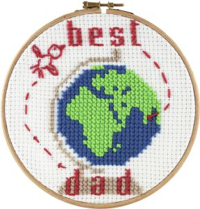 Embroidery kit kids the best dad.
