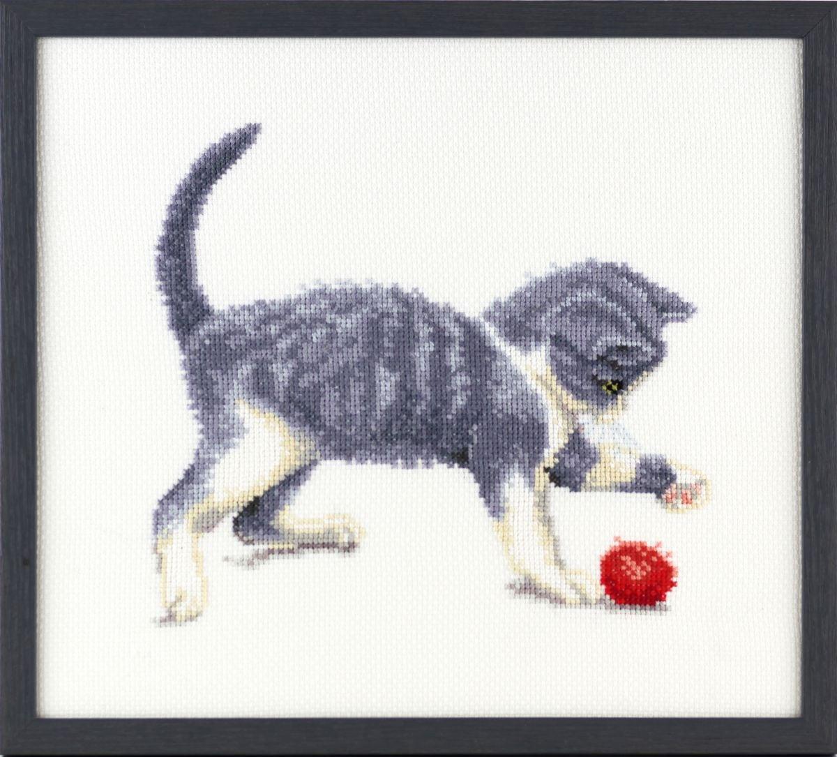 embroidery kit kitten and wool francien van westering