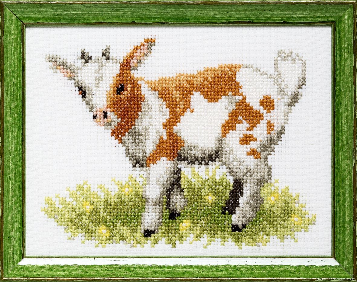 embroidery kit little goat
