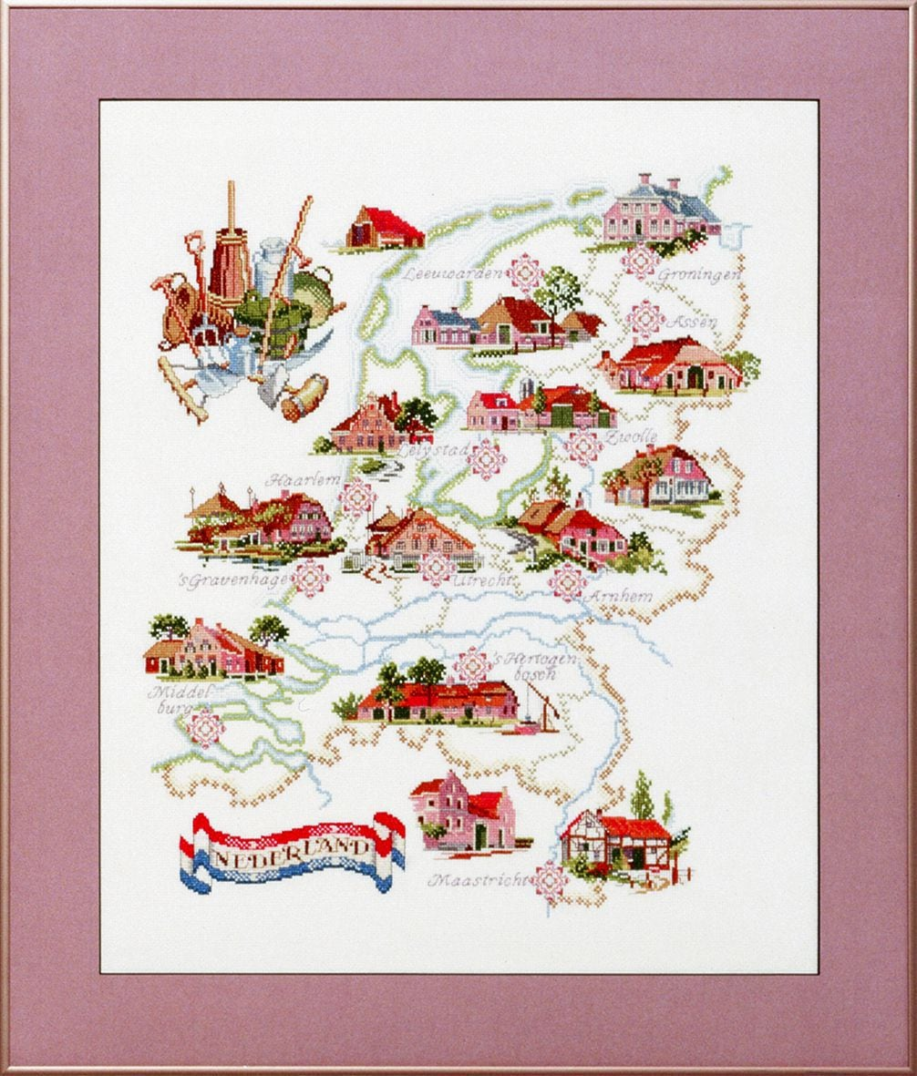 embroidery kit map of holland