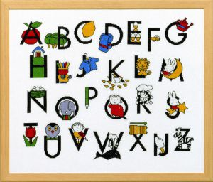 Embroidery kit Miffy alphabet, Dick Bruna