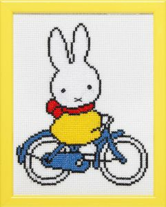 Embroidery kit Miffy biking, Dick Bruna.