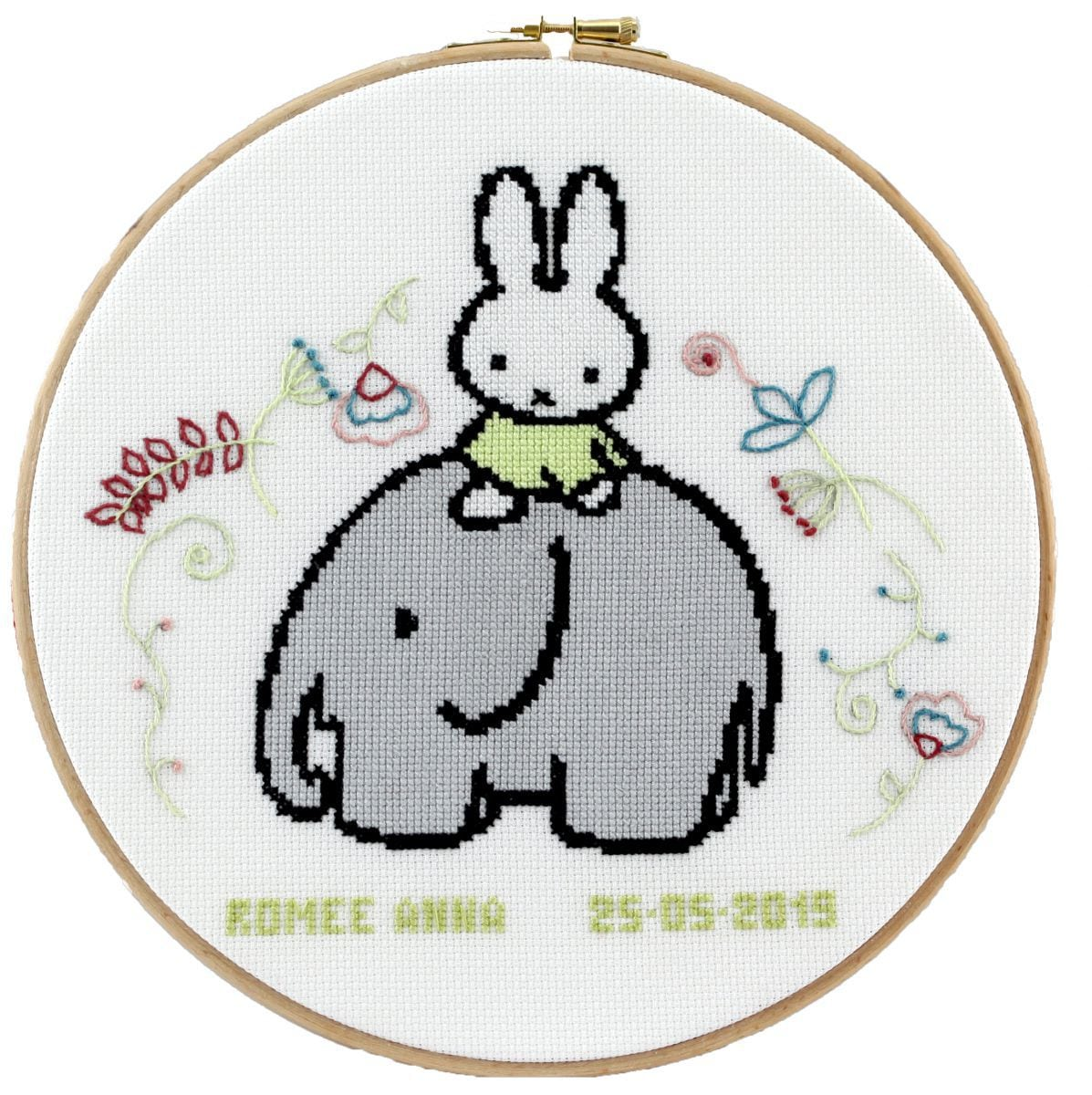 embroidery kit miffy birthday sampler dick bruna