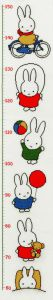Embroidery kit Miffy growth shart, Dick Bruna