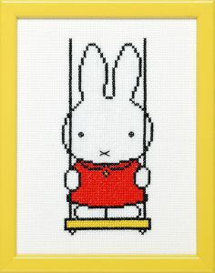Embroidery kit Miffy on a swing, Dick Bruna
