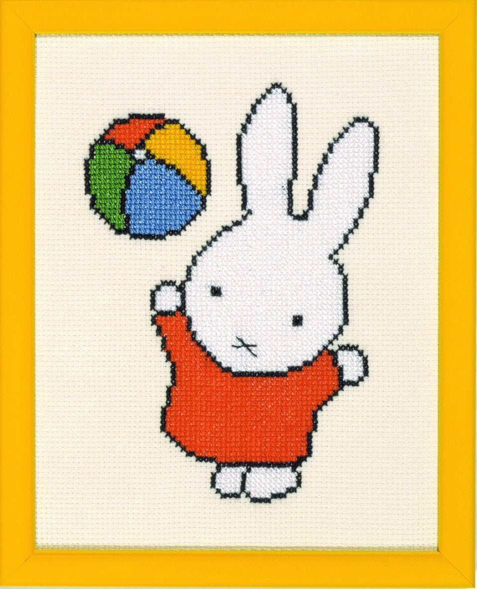 embroidery kit miffy with ball dick bruna