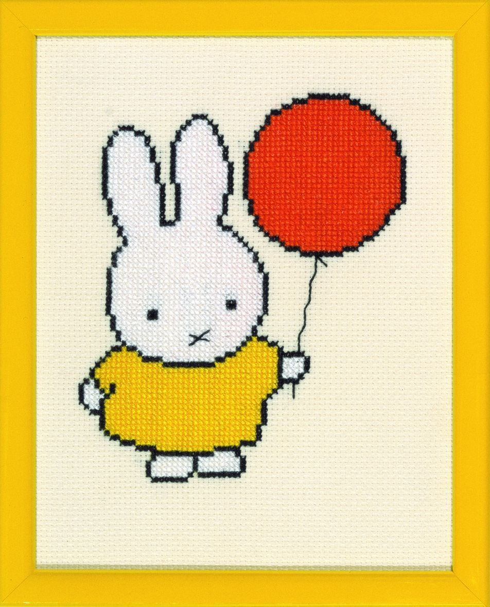 embroidery kit miffy with balloon dick bruna