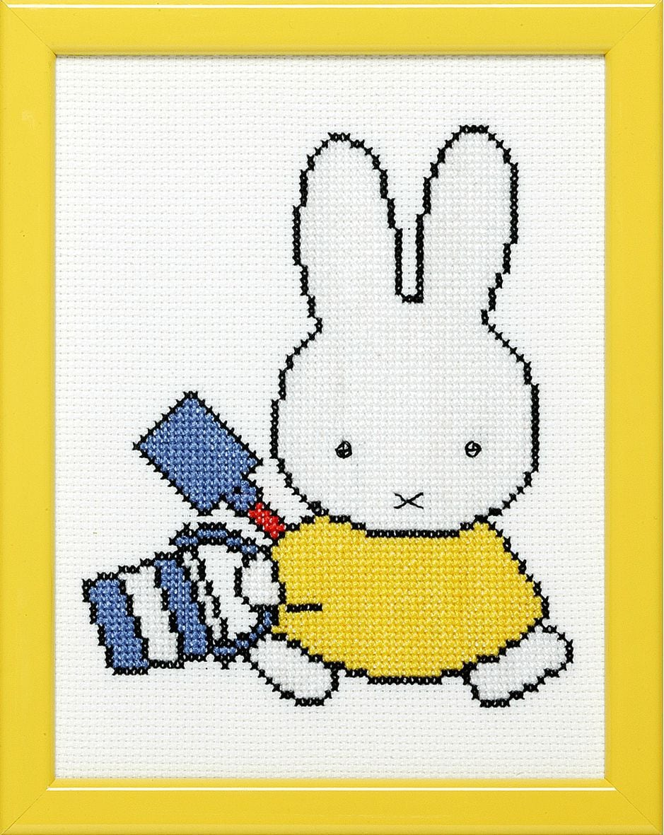 embroidery kit miffy with bucket dick bruna