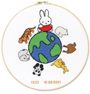 Embroidery kit Miffy world birthday sampler, Dick Bruna