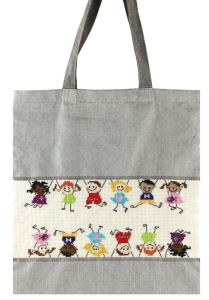 Embroidery kit nice bag featuring funny dolls