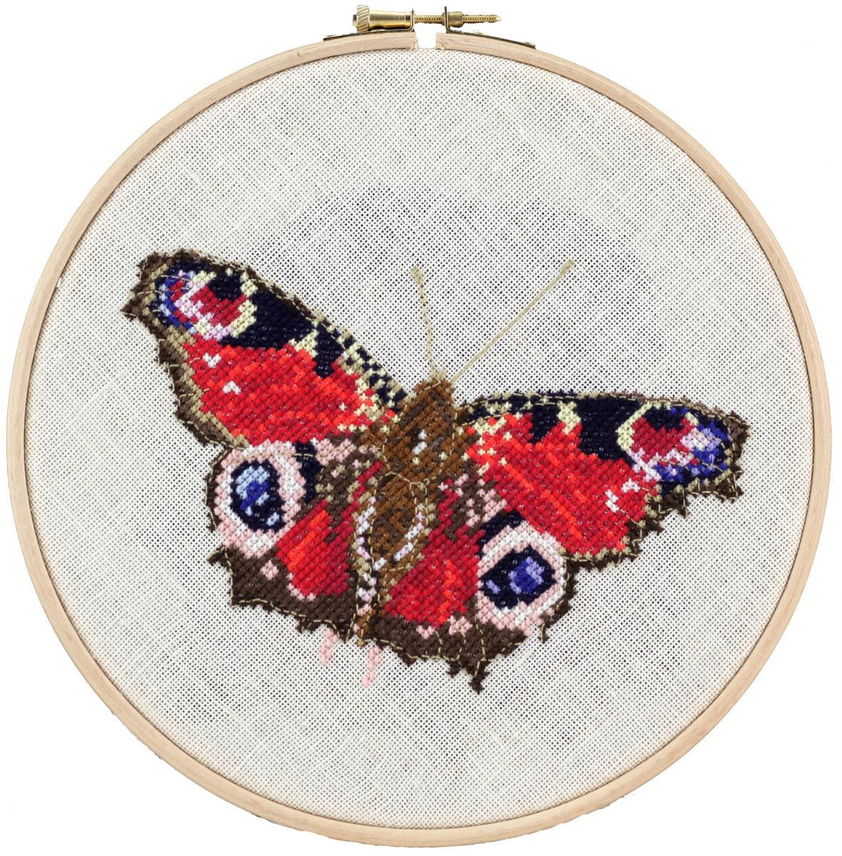 embroidery kit peacock butterfly