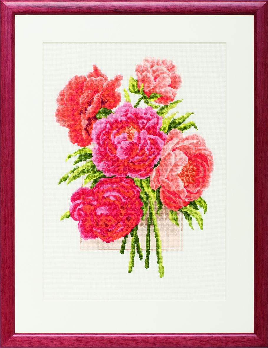 embroidery kit peonies