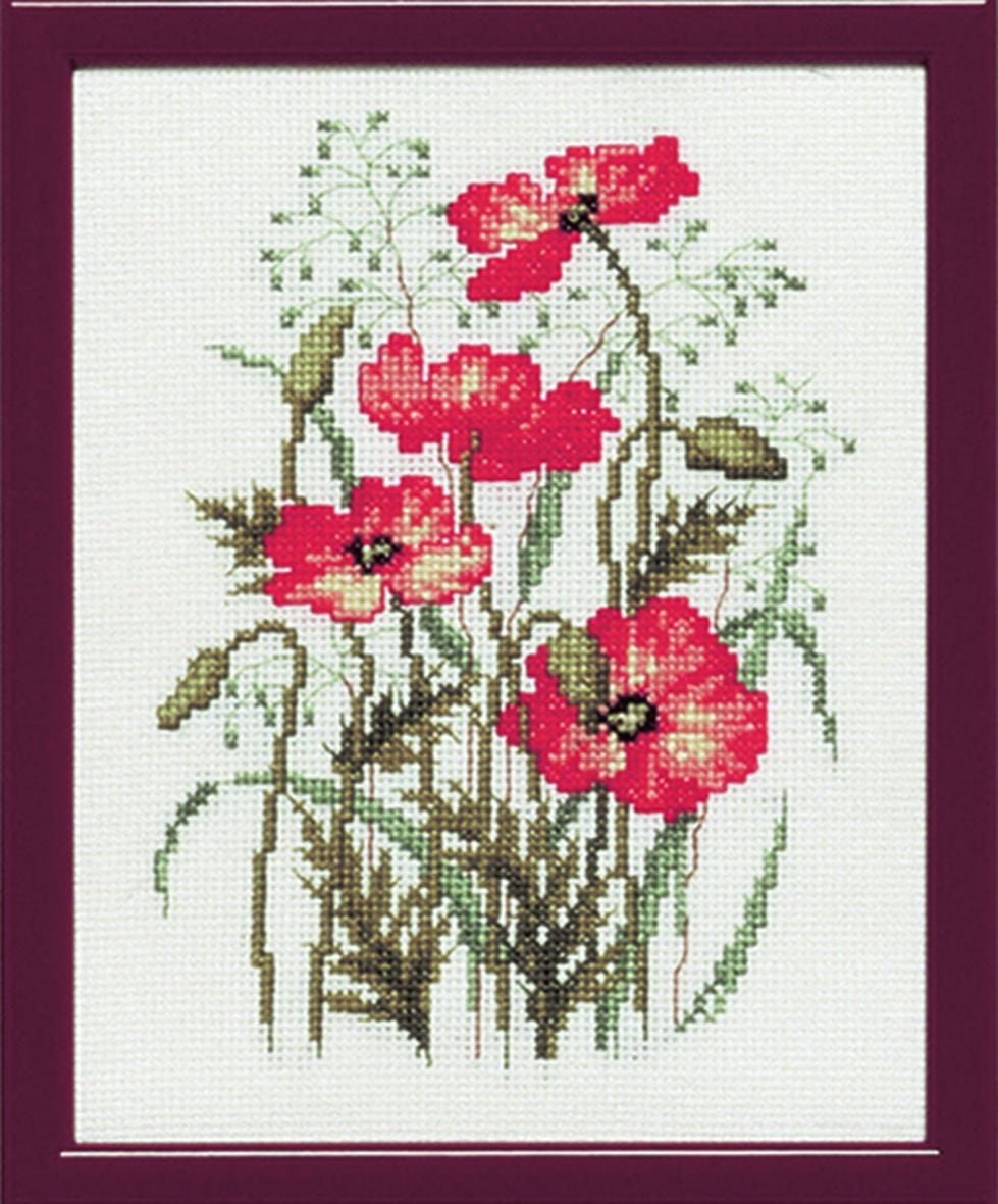 embroidery kit poppies