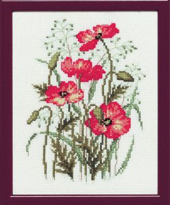 Embroidery kit poppies.