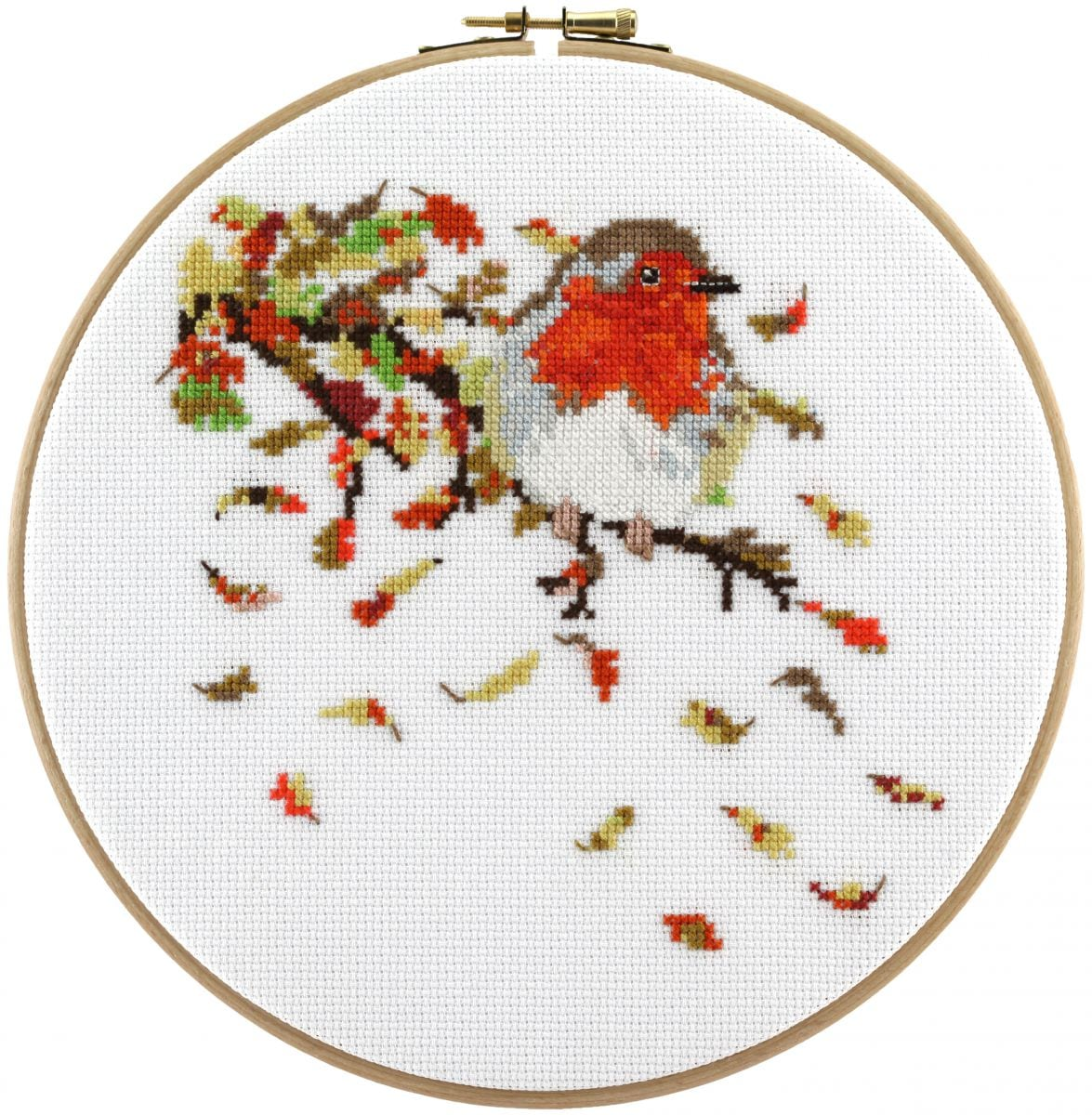 embroidery kit redbreast
