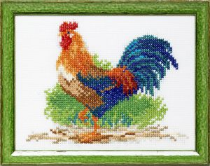 Embroidery kit rooster