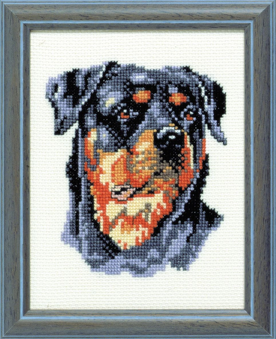 embroidery kit rottweiler dog