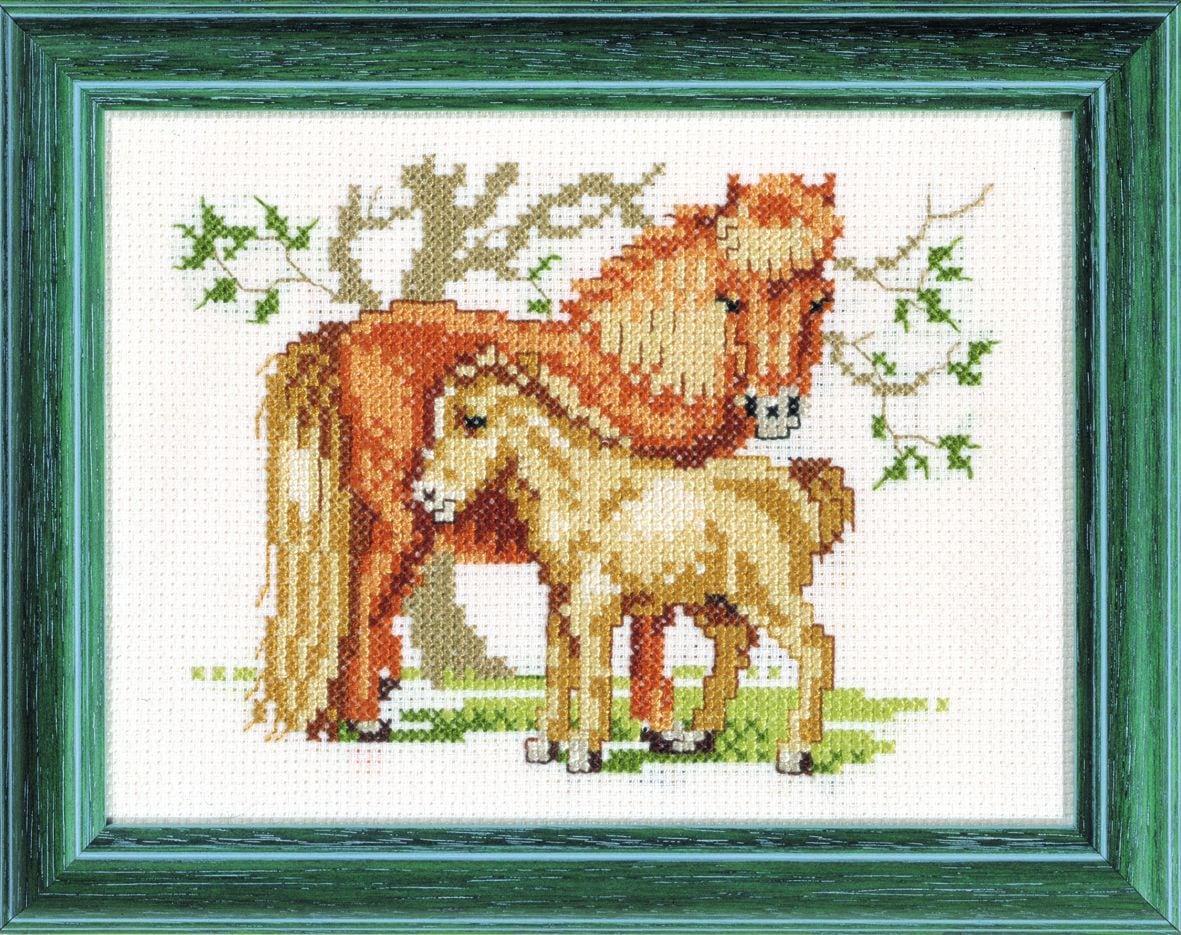 embroidery kit shetland pony and foal