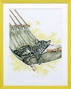 Embroidery kit sleeping cat