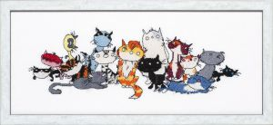 Embroidery kit Street cats Pim & Pom.
