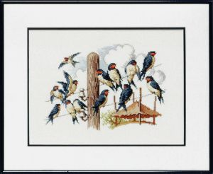 Embroidery kit swallow
