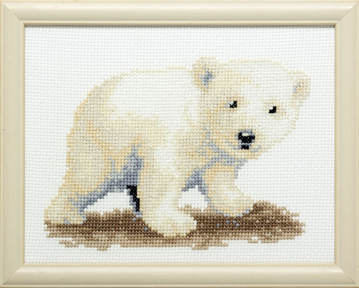 embroidery kit sweet polar bear