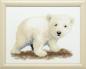 Embroidery kit sweet polar bear.