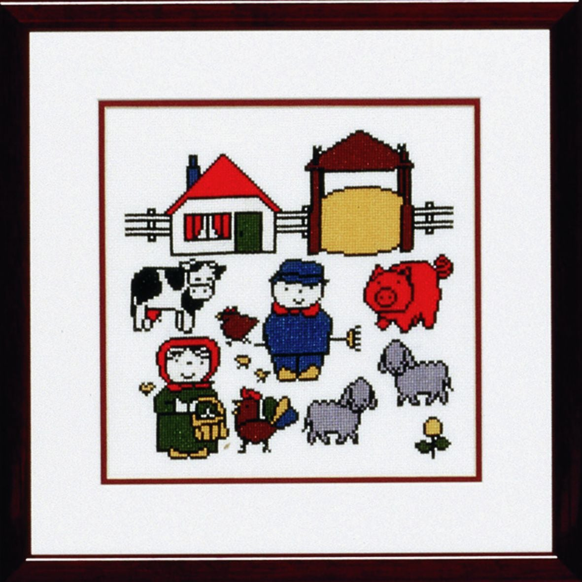 embroidery kit the farm dick bruna