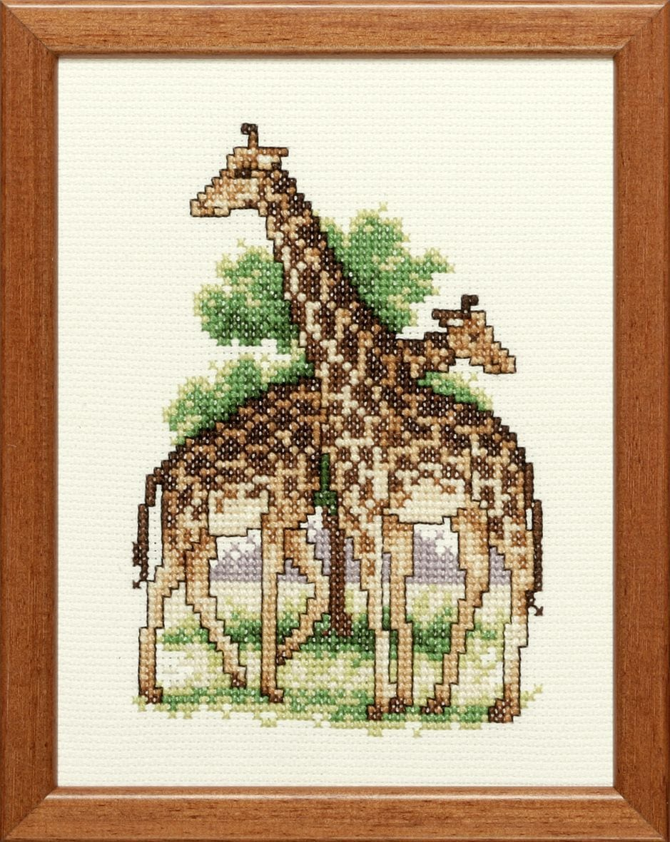 embroidery kit two giraffes