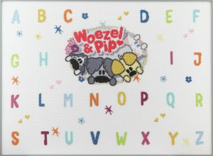 Embroidery kit Woezel & Pip kids ABC with friends
