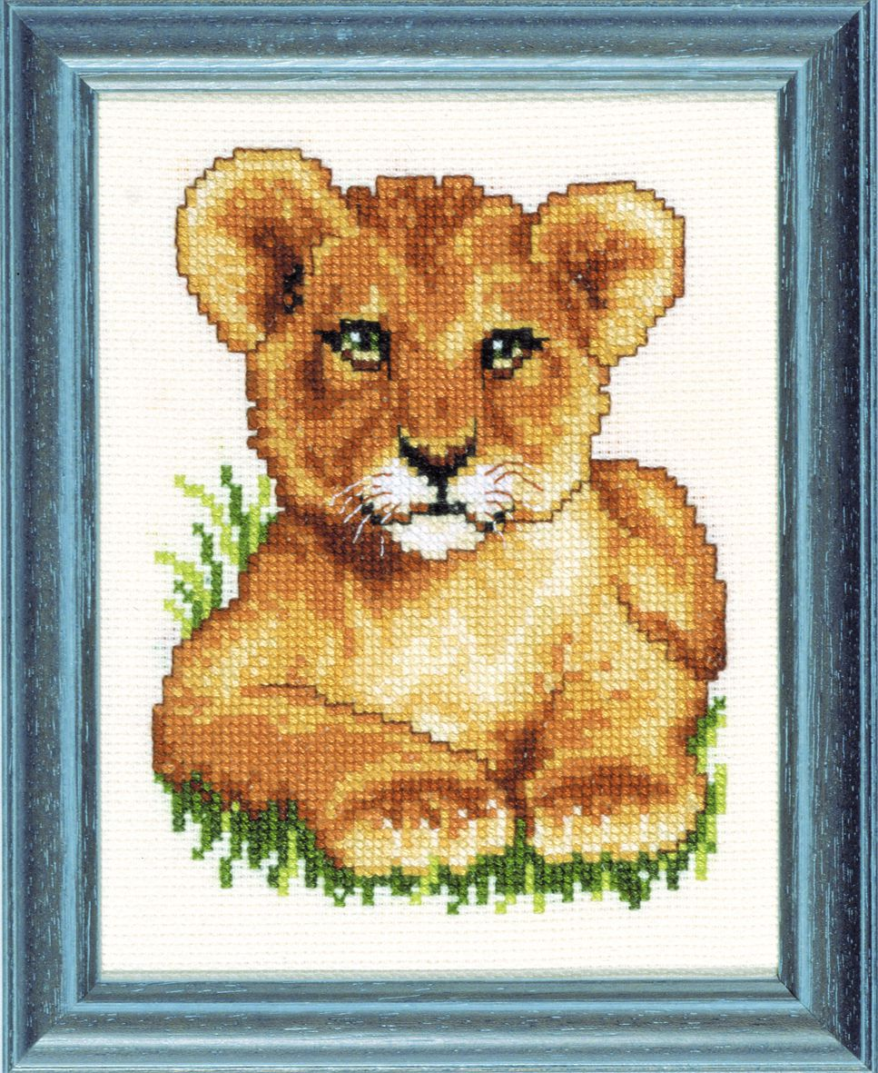 embroidery kit young lion