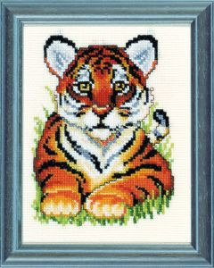 Embroidery kit young tiger
