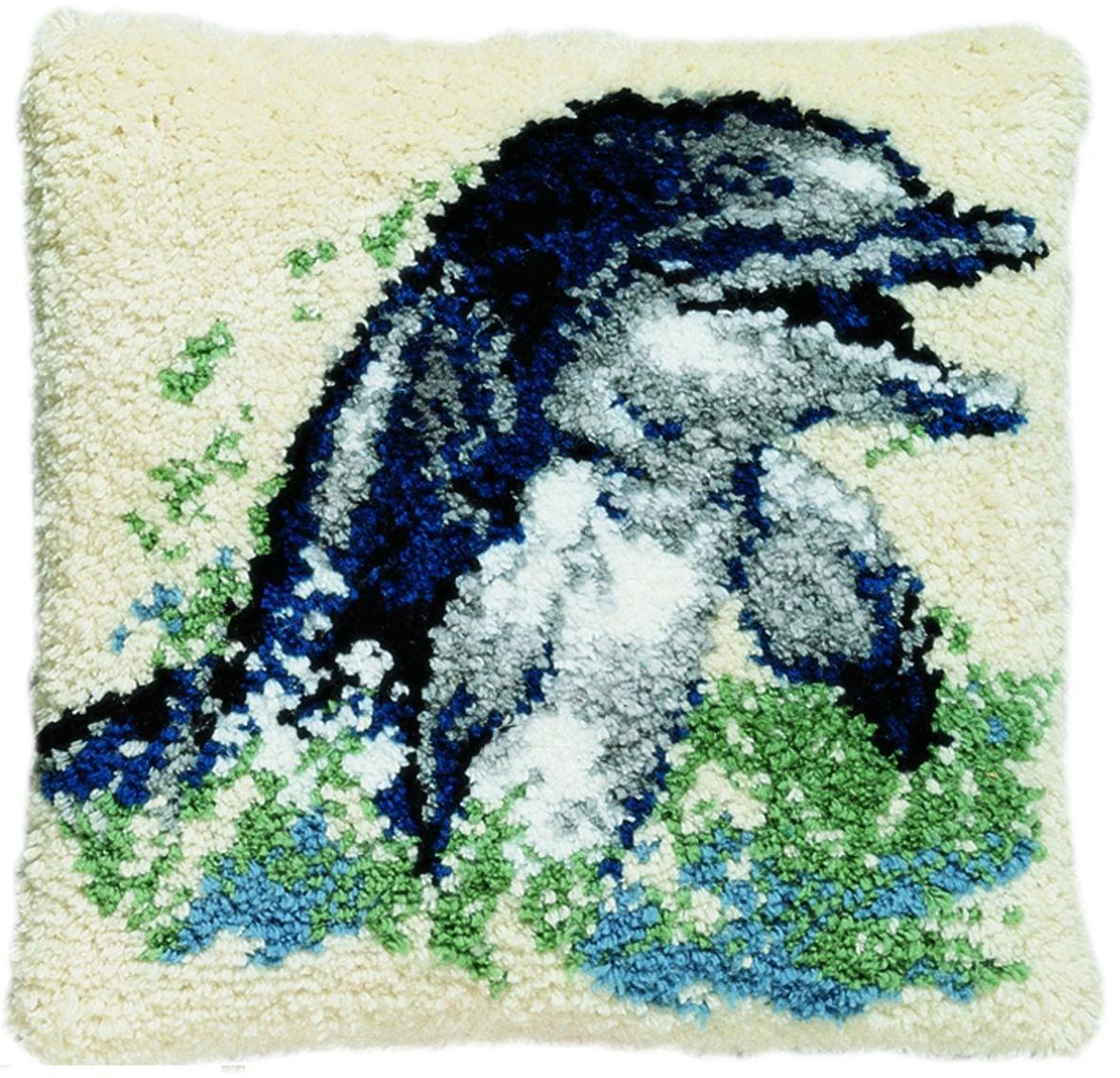 latch hook cushion kit dolphin