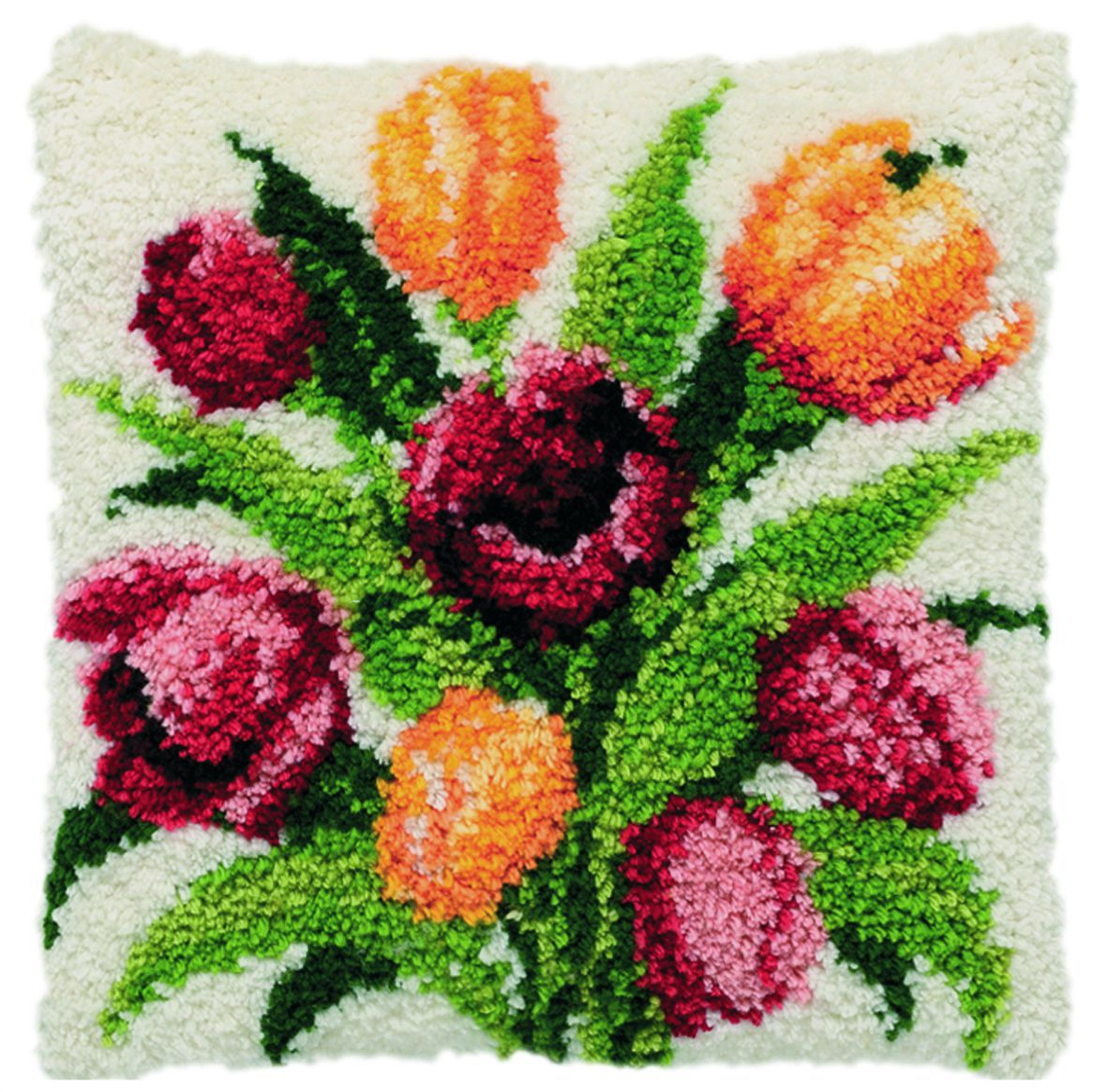 latch hook cushion kit dutch tulips
