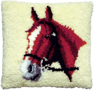 Latch hook cushion kit horse