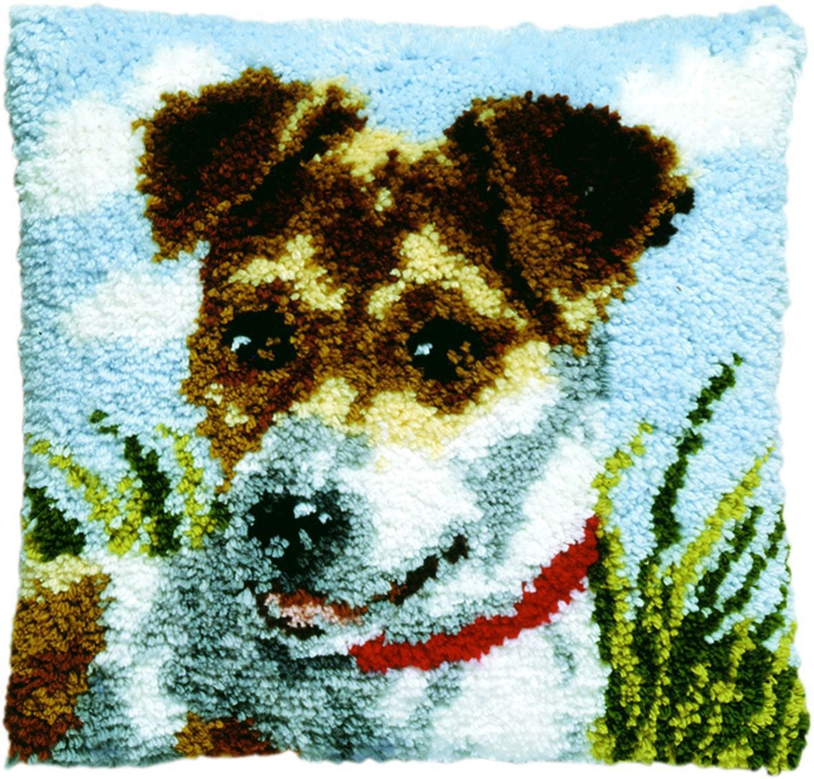 latch hook cushion kit jack russell