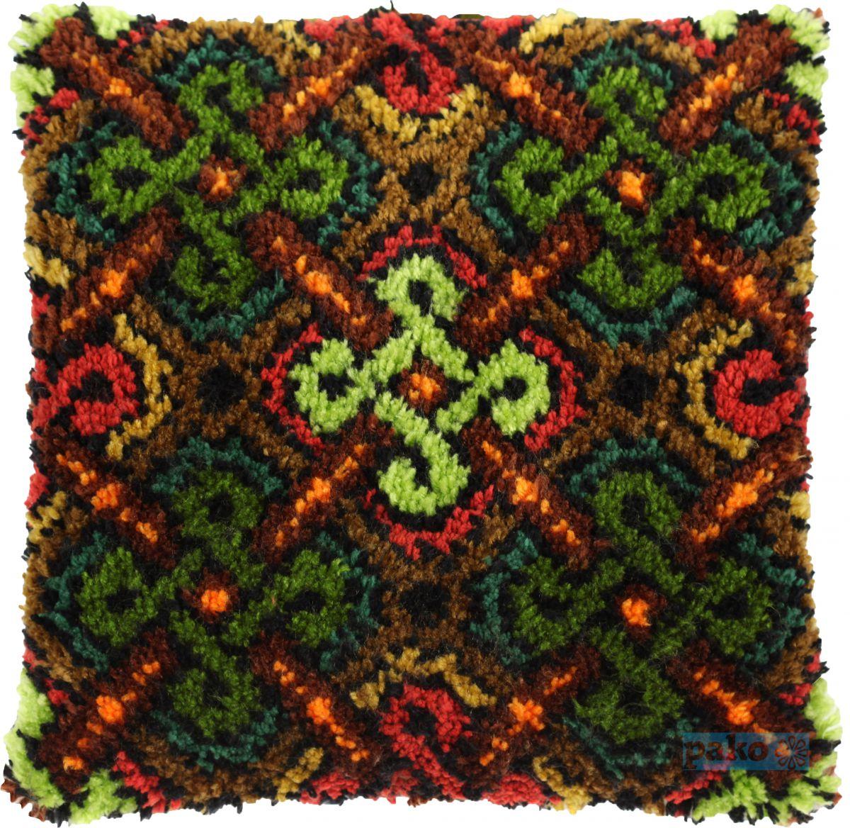 latch hook cushion kit winter symmetry