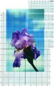 Ontwerp u eigen borduurpatroon met deze rasters.